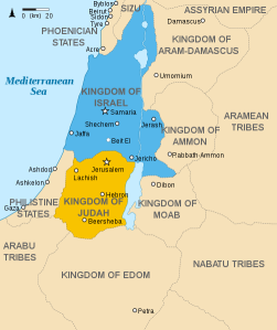 Kingdoms of Israel and Judah - Quelle: Wikipedia/Richardprins