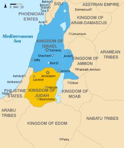 Kingdoms of Israel and Judah - Quelle: Wikipedia/Richardprins