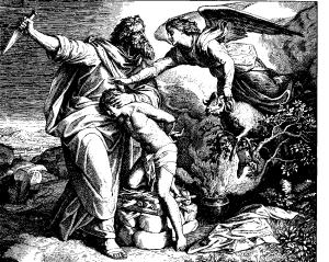 """Julius Schnorr von Carolsfeld: """"Die Opferung Isaaks""""  [Public domain], via Wikimedia Commons"""